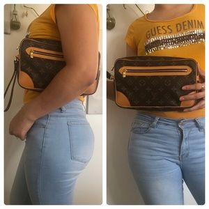 Authentic LV Marly Dragonne GM Clutch Hand Bag